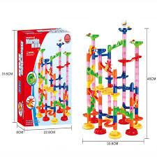 2016 new diy construction building block toys marble run maze ball trail block roller coaster plastic
