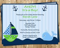 nautical baby shower invitations nautical baby shower invitations ahoy its a boy whale