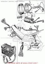 honda ca100 1962 usa headlight battery wire harness