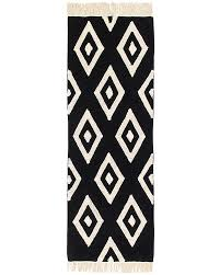 White Runner Rug Canals Machine Washable Runner Rug Black And White
