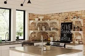 kitchen wallpaper ideas 25 modern kitchens and interior brick wall design ideas brick