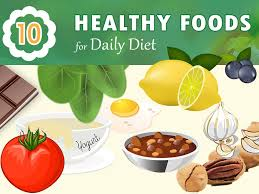 infographic u2013 10 healthy foods for daily diet