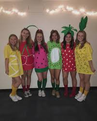 twins halloween costume idea diy fruit costume halloween fruits fruit salad creative