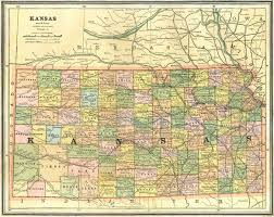 Kansas City Map Old Historical City County And State Maps Of Kansas
