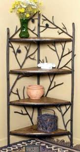 Corner Bakers Rack With Storage Wrought Iron Corner Bakers Rack Foter