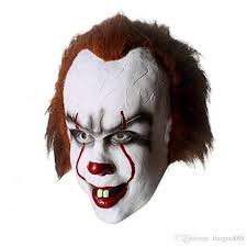 2017 halloween christmas mask toy pennywise costume it the movie