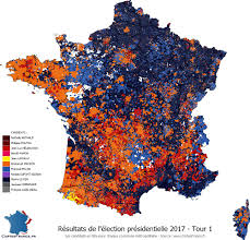 Map Election by France U0027s 2017 Presidential Election Results Mapped