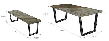 size of dining room table for 10