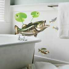 largemouth bass wall decal bold wall art