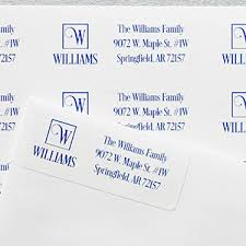 square monogram personalized return address labels