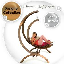 Christopher Knight Home Swinging Egg Outdoor Wicker Chair by Curve Hanging Egg Timber Swing Chair Outdoor Indoor Furniture