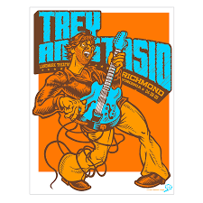trey anastasio phish 2005 richmond poster u2013 ames bros