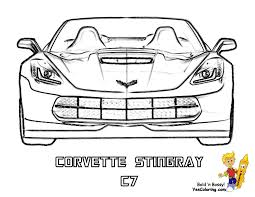 gusto car coloring pages and corvette glum me