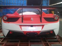 Ferrari 458 Challenge - spotted at bombay cargo ferrari 458 challenge gt racecar