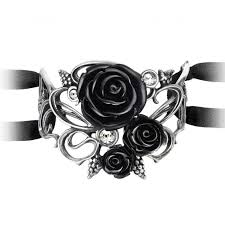 black rose bracelet images Bacchanal black rose gothic bracelet with swarovski crystal accent jpg