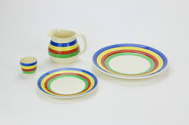 fiestaware egg plate ware jug sides plates dinner plates and egg cup crown