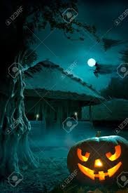 halloween night background design background for a party on halloween night stock photo