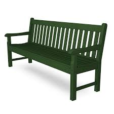 Park Benches Large Polywood Rockford 72 Inch Bench Commercial Quality Outdoor