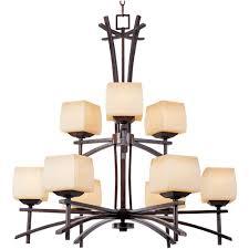 maxim lighting asiana 9 light roasted chestnut chandelier