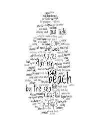 beach decor print words about the beach collage by cjprints