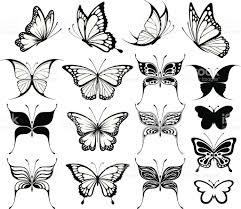 butterflies silhouettes stock vector art 153426737 istock