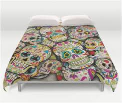 colorful bedding collage style sugar skull duvet cover u2013 sugar