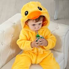 Baby Duck Halloween Costume Double Big Yellow Duck Climbing Clothes N6272