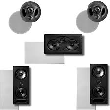 home theater speakers in wall or ceiling amazon com polk audio vanishing ls series 5 0 in wall in