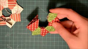 oragami christmas wreath ornament youtube