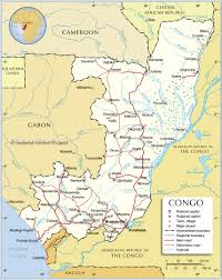 50 States Map With Capitals by Political Map Of Republic Of The Congo Nations Online Project