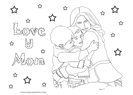 love u mom coloring page for mother u0027s day crayon action coloring