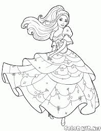 coloring page dance barbie