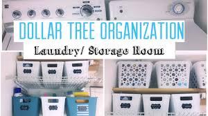 dollar tree organization makeover laundry room youtube