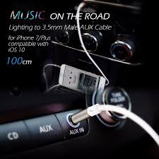 apple lighting to headphone buy 3 5mm apple iphone 7 lighting male to 100 cm aux cable cord for