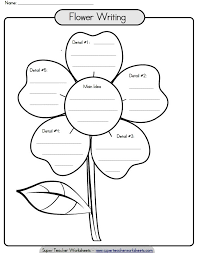 Paragraph Writing Worksheets Printable Paragraph Writing Flower