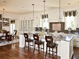 kitchen islands with stools glossy black backsplash pull down