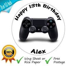 xbox cake topper playstation 4 controller cake topper personalised edible ps4
