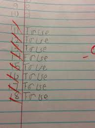 true or false quiz answers imgur exam paper picture shows funny