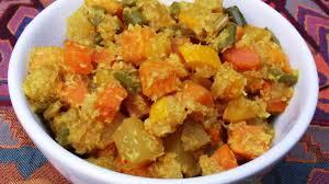 cuisiner les courgettes jaunes courgettes jaunes et patates douces aux épices et à la noix de coco