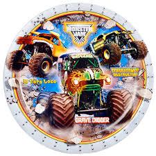 monster truck show in michigan monster jam 3d dinner plates birthdayexpress com
