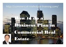 commercial real estate business plan systems for agents