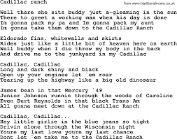 bruce springsteen song cadillac ranch lyrics