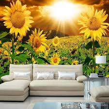 Sunflower Home Decor Beautiful Sunflower Photo Wallpaper Natural Beauty Wall Mural
