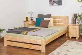 Single Wood Bed Frame Single Bed Solid Natural Pine Wood A24 Includes Slatted Frame