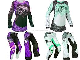 womens motocross gear packages fly racing kinetic women s s pink teal white jersey pants