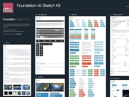 foundation v5 ui kit sketch freebie download free resource for
