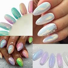 White Pink Nail Wholesale Purple White Pink Blue Diy Mermaid Effect Glitter Nail