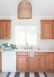 how to freshen up stained kitchen cabinets 7 ideas to from rental kitchens rocking their oak wood