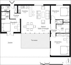 vitrine plan de maison de plain pied avec 3 chambres design 1034119