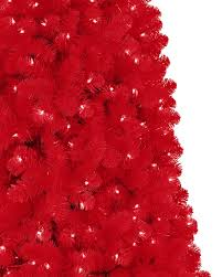 red artificial christmas tree treetopia
